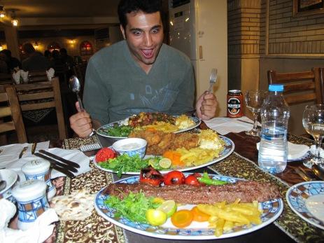 27 - Having dinner with Hossein