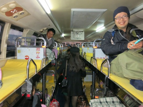 32 - Sleeping bus from Kunming to Yuanyang